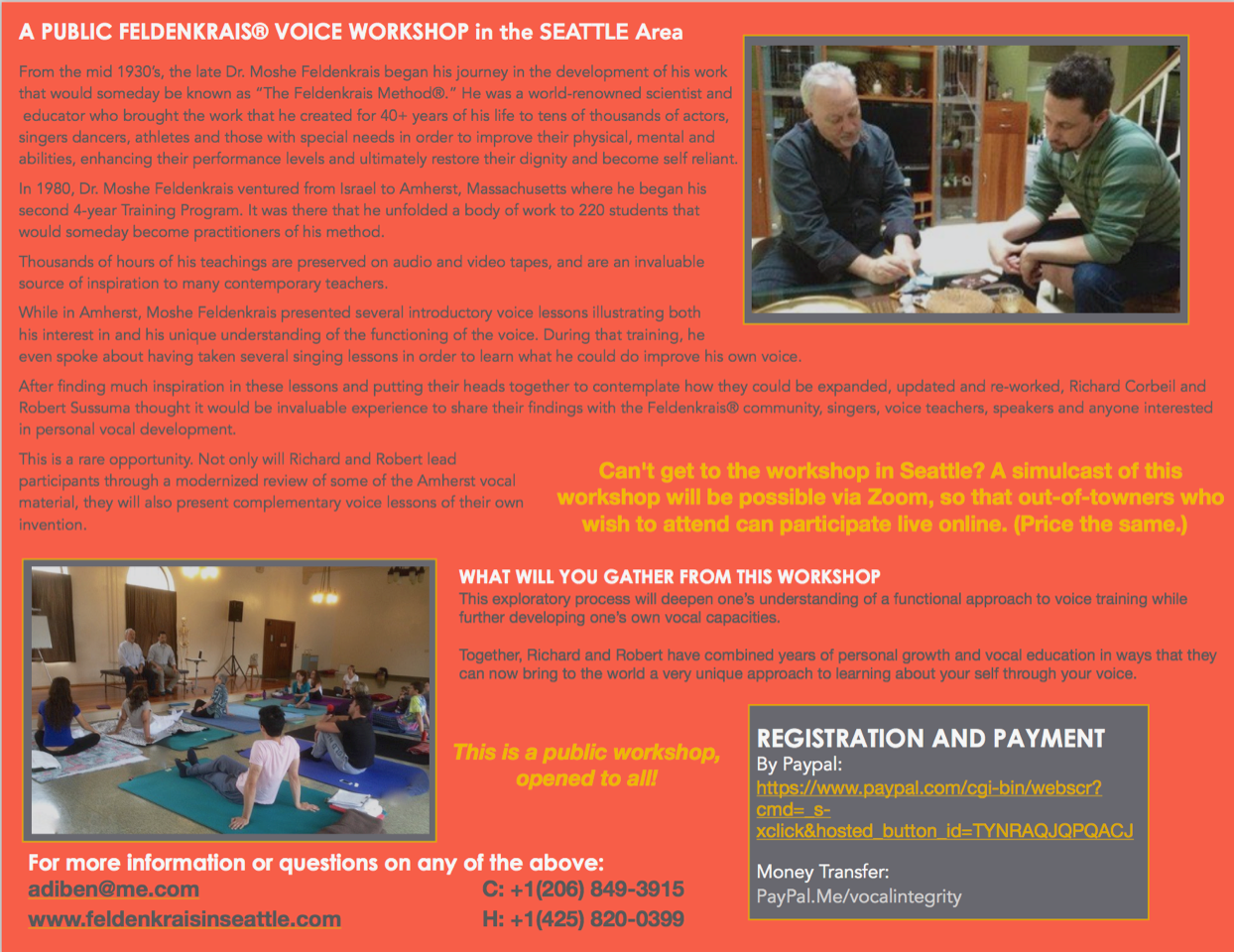 Feldenkrais Voice Workshop